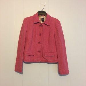 Pink Gap brand pea coat
